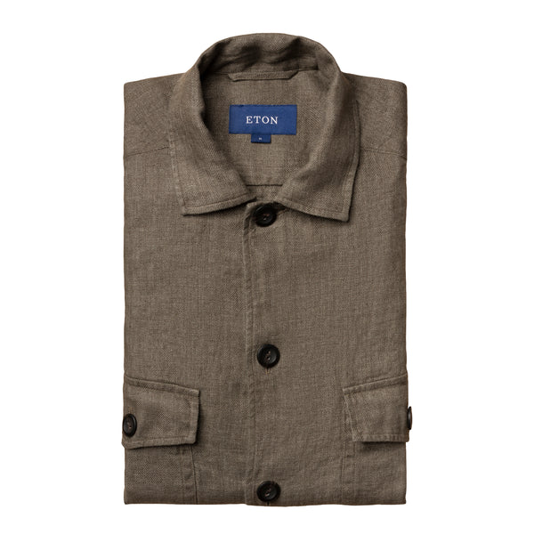 Linen Twill Overshirt - Thernlunds