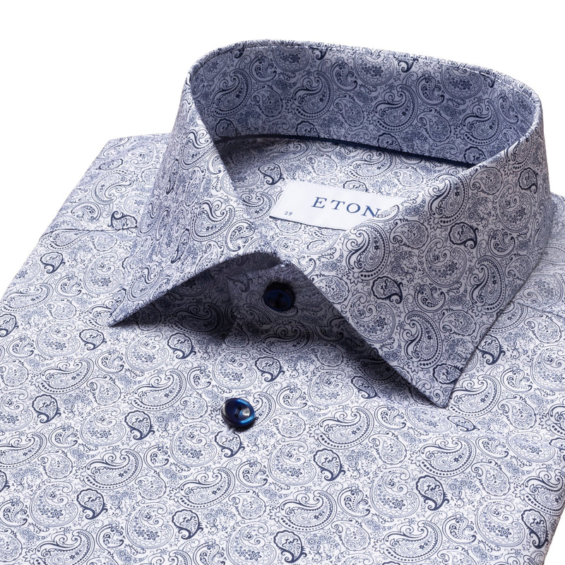 Eton - Skjorta - Slim Fit Shirt (29 Blue) - Thernlunds