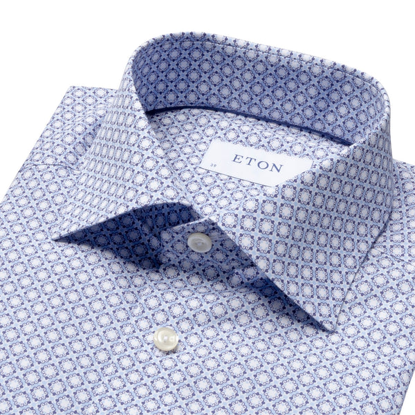 Eton - Skjorta - Contemporary Fit Poplin Shirt (23 Blue) - Thernlunds