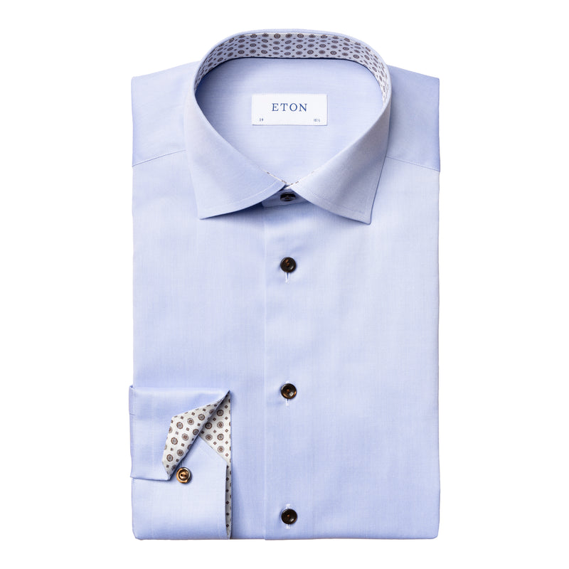 Eton - Skjorta - Contemporary Twill Shirt - Thernlunds