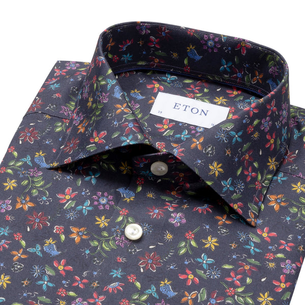 Eton - Skjorta - Signature Slim Fit Shirt (29 Blue) - Thernlunds