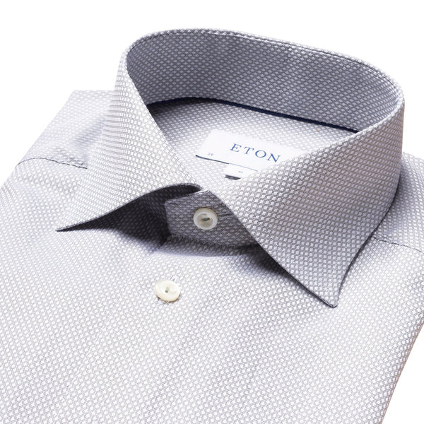 Eton - Skjorta - Diamond Dobby Slim Shirt - Thernlunds