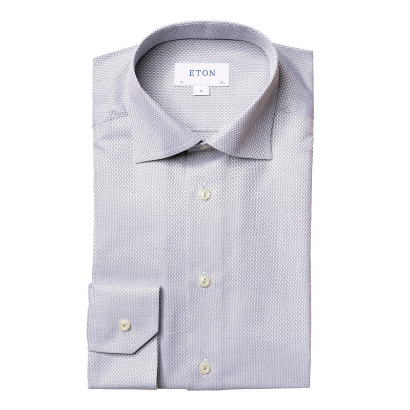 Eton - Skjorta - Diamond Dobby Slim Shirt (65 Green) - Thernlunds