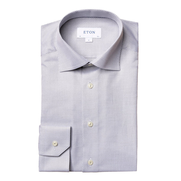 Eton - Skjorta - Diamond Dobby Contemporary Shirt (65 Green) - Thernlunds