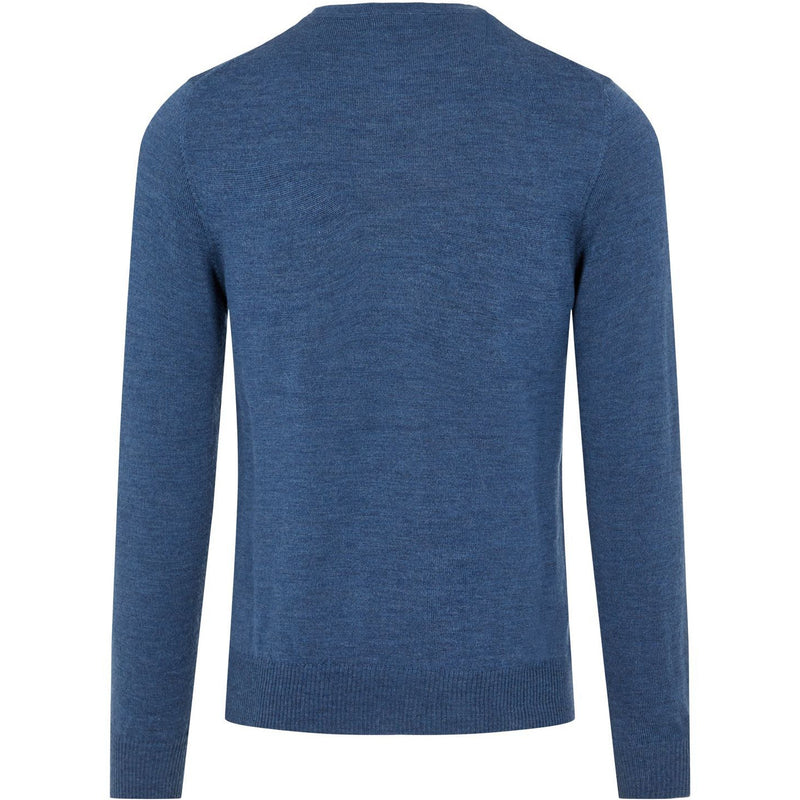 J.Lindeberg - Tröja - Lyle Merino Crew Neck Sweater (O351 Egyptian Blue Melange) - Thernlunds