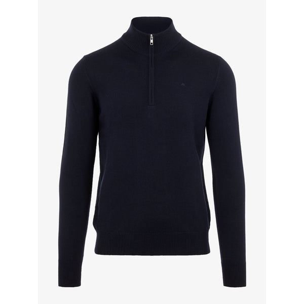 J.Lindeberg - Tröja - Lane Merino Quater Zip Sweater - Thernlunds