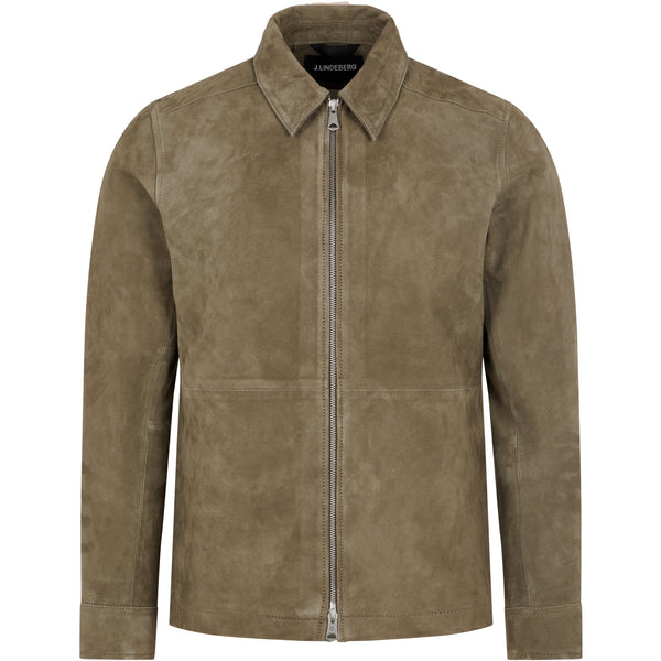 Jonah Zip Suede Jacket (M268 Army green)