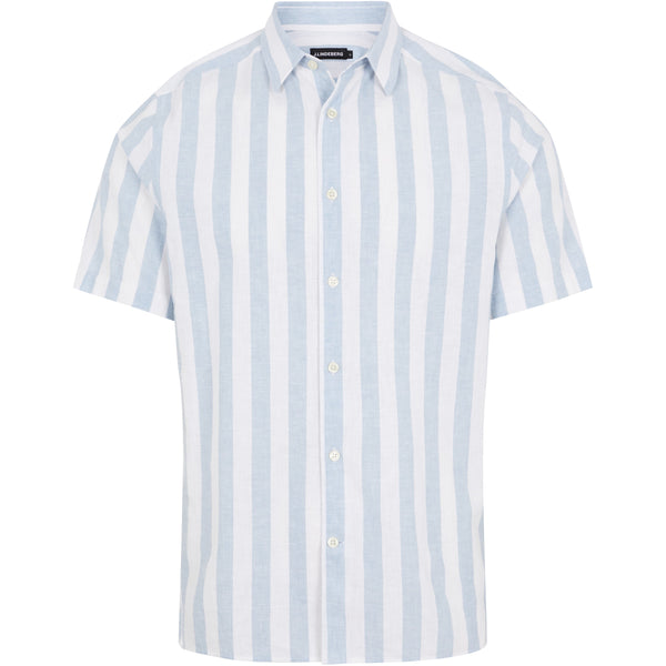 Linen Stripe SS Reg Fit Shirt - Thernlunds