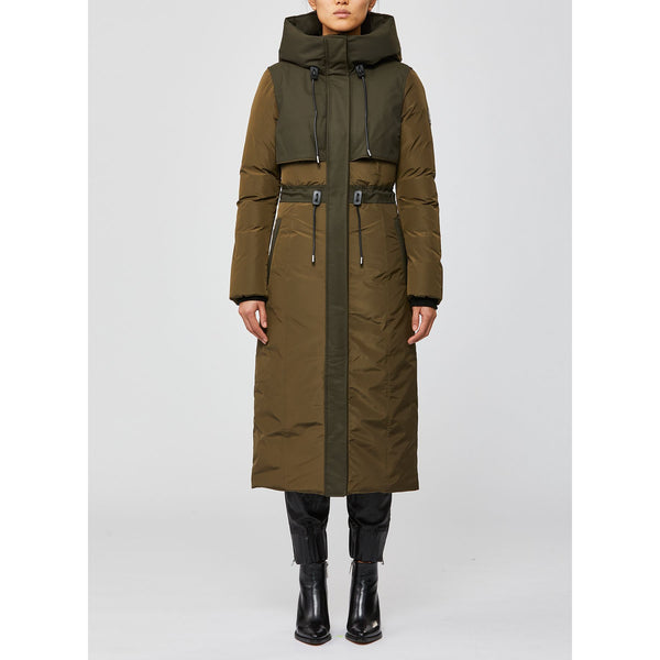 Leanne Long Nylon Down Jacket (ARMY)
