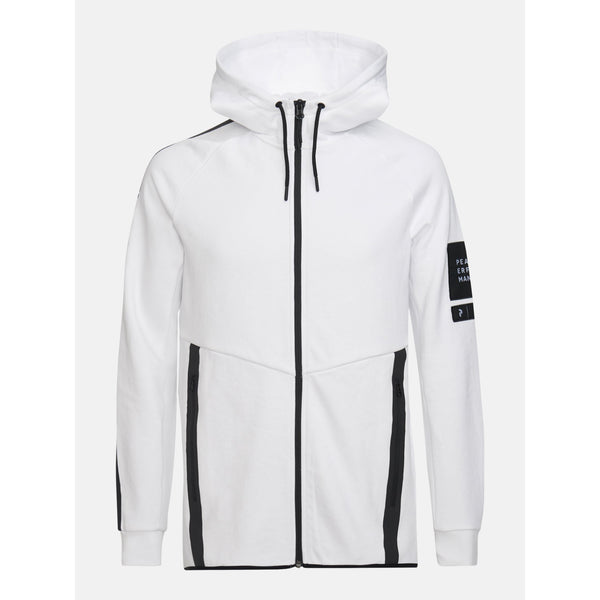 Peak Performance - Tröja - M Tech Hood Sweater (089 White) - Thernlunds