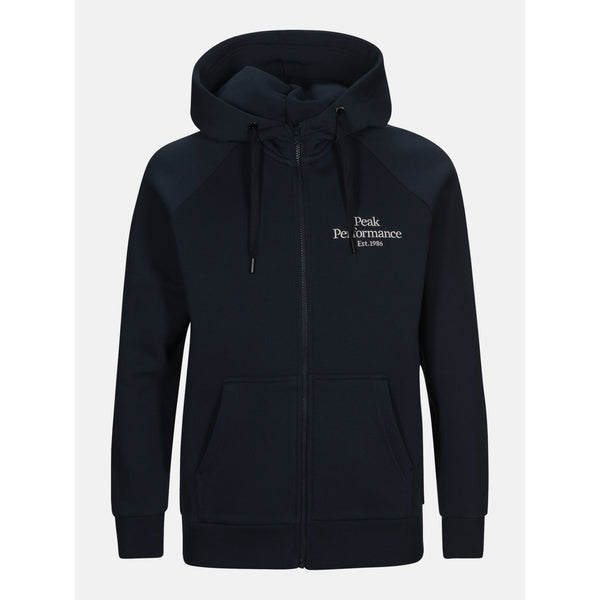 Peak Performance - Tröja - M Original Zip Hood (2N3 Blue Shadow) - Thernlunds