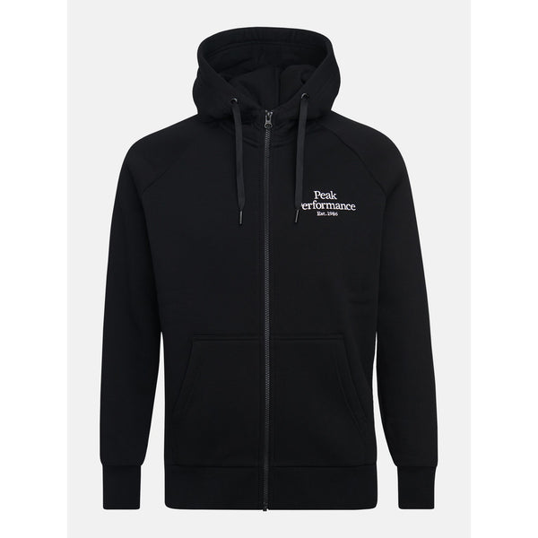 Peak Performance - Tröja - M Original Zip Hood (050 Black) - Thernlunds
