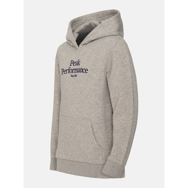 Peak Performance - Tröja - JR Original Hood (M03 Med Grey Melange) - Thernlunds