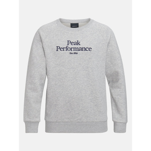 Peak Performance - Tröja - JR Original Crew (M03 Med Grey Melange) - Thernlunds