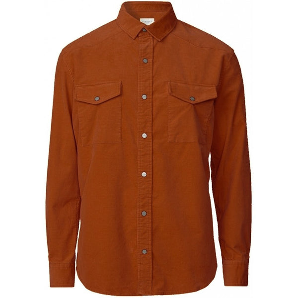 Les Deux - Skjorta - Graham HW Overshirt (Rusty Brown) - Thernlunds