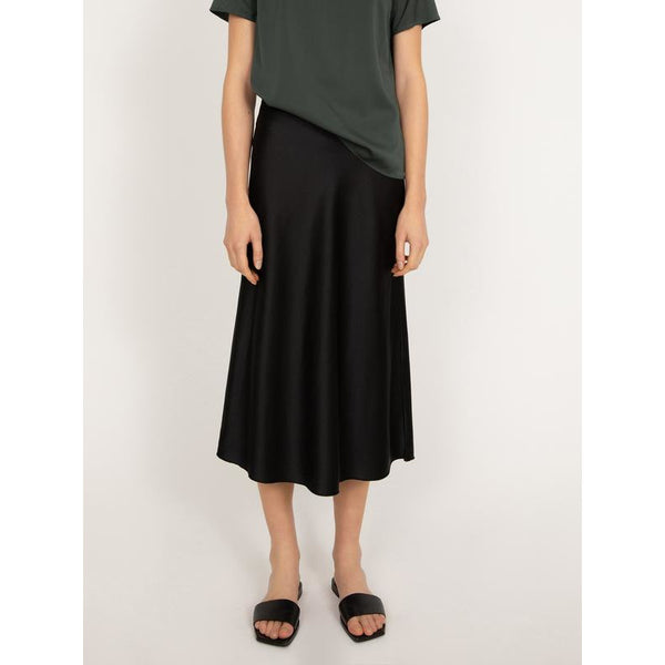 Hana Satin Skirt (Black)