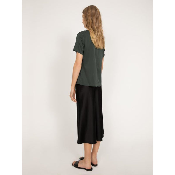 Ahlvar - Kjol - Hana Satin Skirt (Black) - Thernlunds