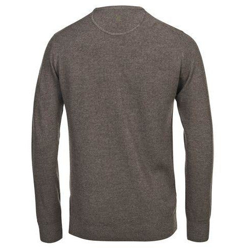 Hansen & Jacob - Tröja - Crew Neck Structure Knit (07 Mole) - Thernlunds