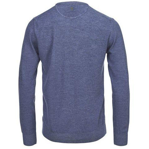 Hansen & Jacob - Tröja - Crew Neck Structure Knit (44 Blue) - Thernlunds