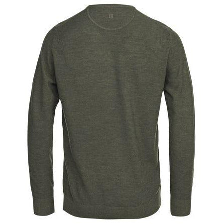 Hansen & Jacob - Tröja - Crew Neck Structure Knit (54 Dusty green) - Thernlunds