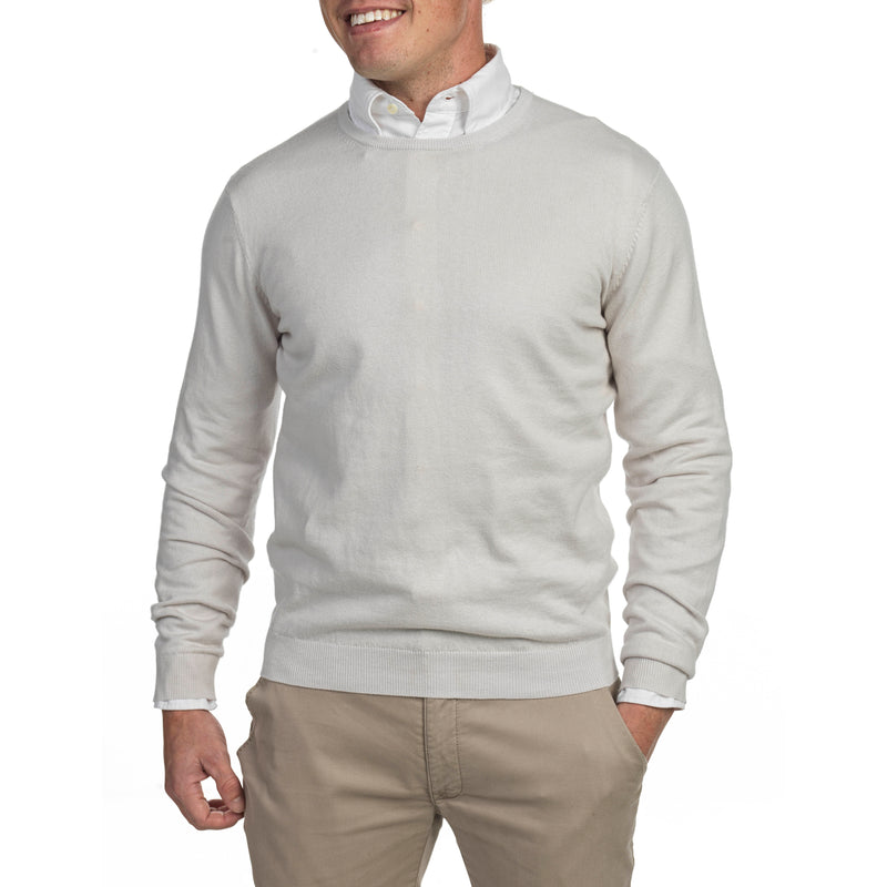 COTTON CASHMERE CREWNECK - Thernlunds