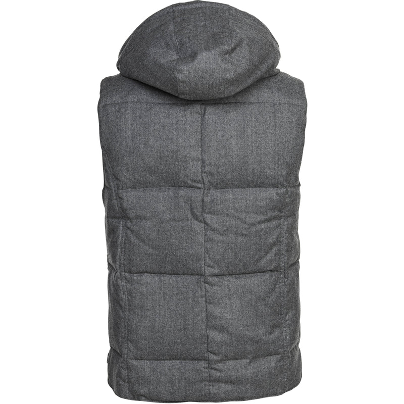 Hansen & Jacob - Väst - Lt Down Wool Vest (05 Grey) - Thernlunds
