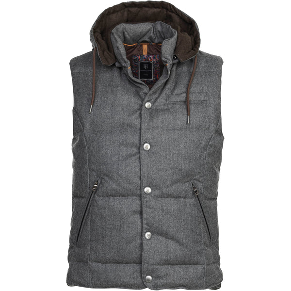 Hansen & Jacob - Väst - Lt Down Wool Vest - Thernlunds
