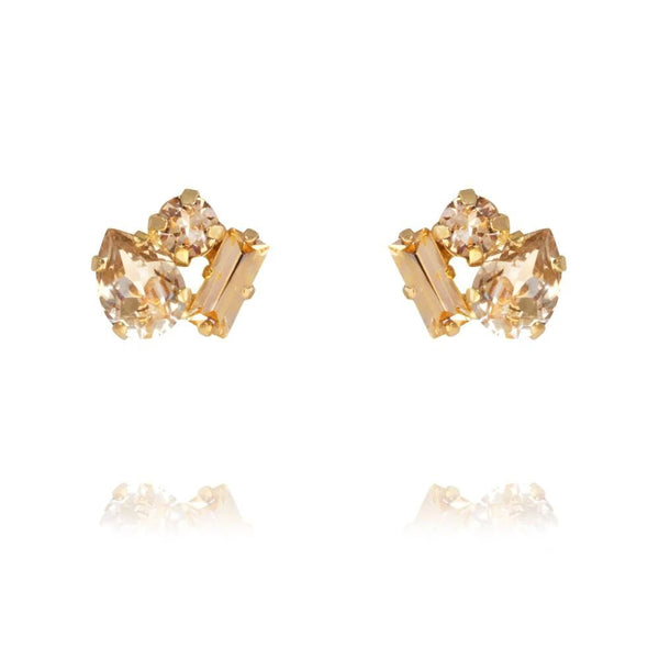 Caroline Svedbom - Smycken - Isa Earring Gold (Light Peach Combo) - Thernlunds