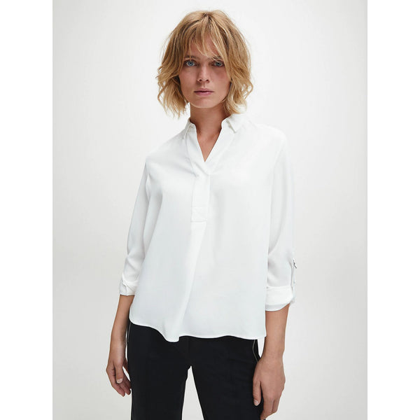 Calvin Klein - Blus - Light Cdc Blouse (YAF Bright White) - Thernlunds