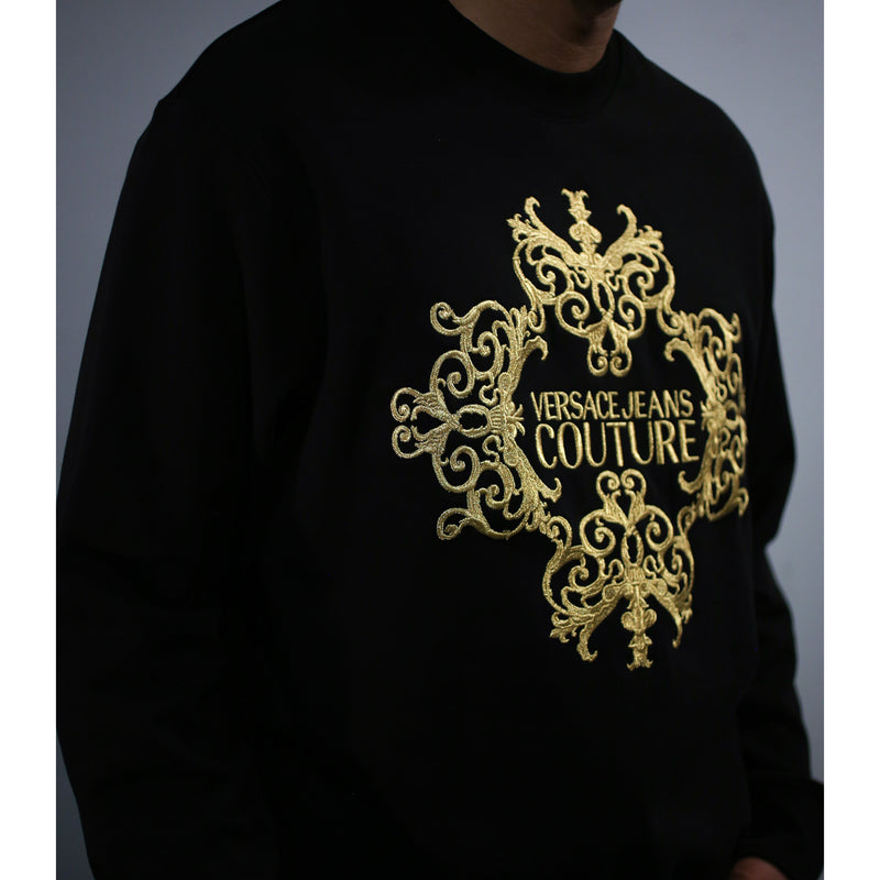 Versace - Tröja - Sweatshirt Embroidery (K42 Black) - Thernlunds