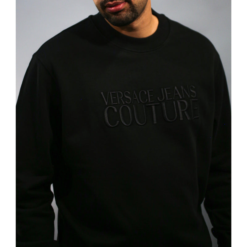 Versace - Tröja - Logo Sweatshirt (899 Black) - Thernlunds