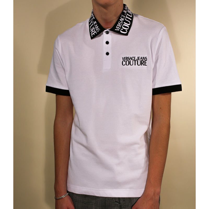 Versace - T-shirt - Logo Polo T-Shirt (003 White) - Thernlunds