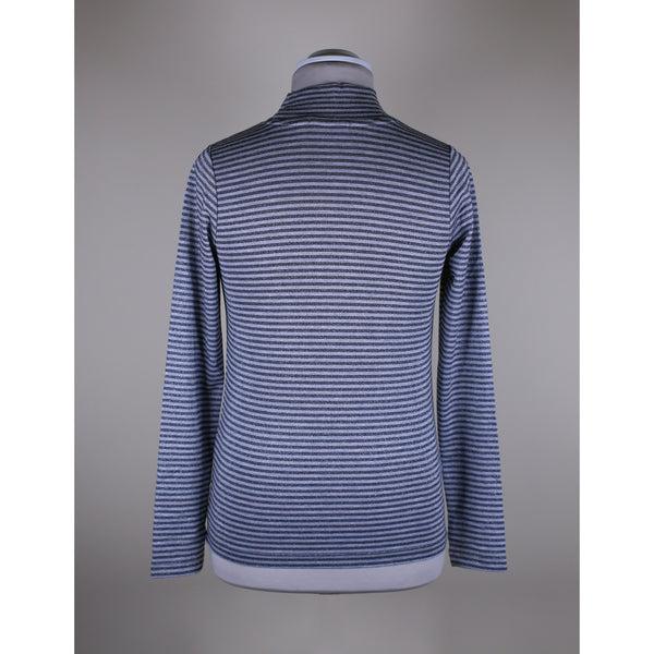 Calvin Klein Jeans - Tröja - Striped Lurex Ls Top (0AR Lurex Stripe Ck Black Grey) - Thernlunds