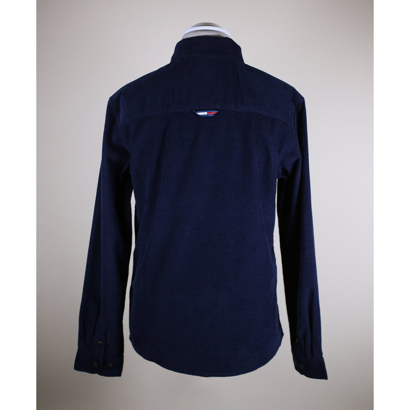 Tommy Hilfiger Menswear - Skjorta - Solid Rib Cord Shirt L/S (C87 Twilight Navy) - Thernlunds