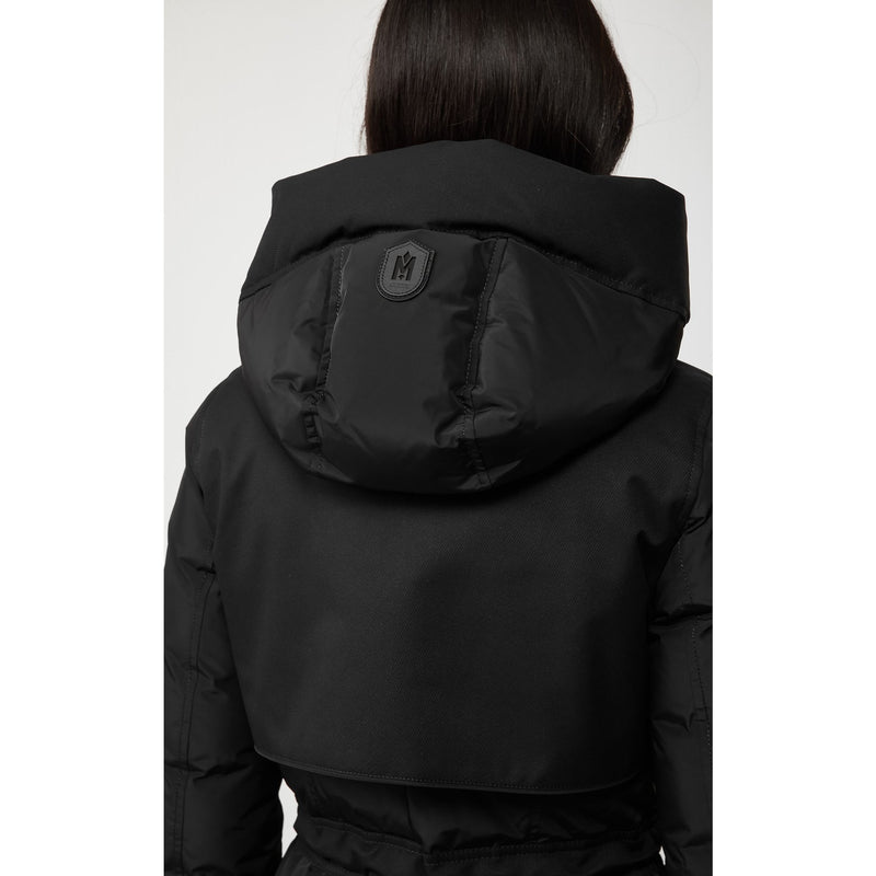 Leanne Long Nylon Down Jacket (Black)