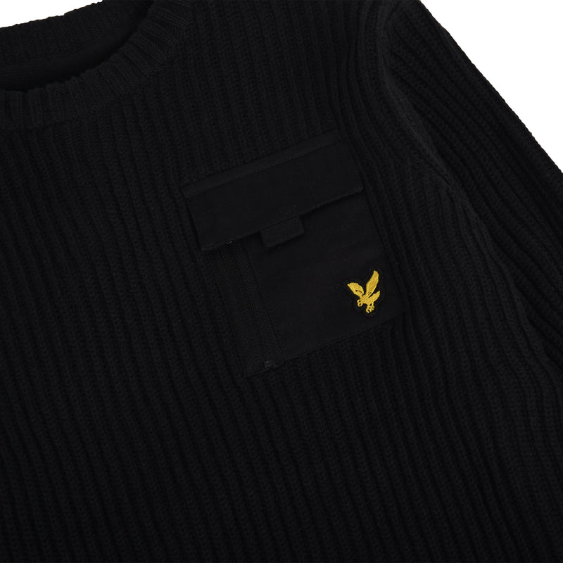 Lyle & Scott - Tröja - WOVEN POCKET KNIT (023) - Thernlunds