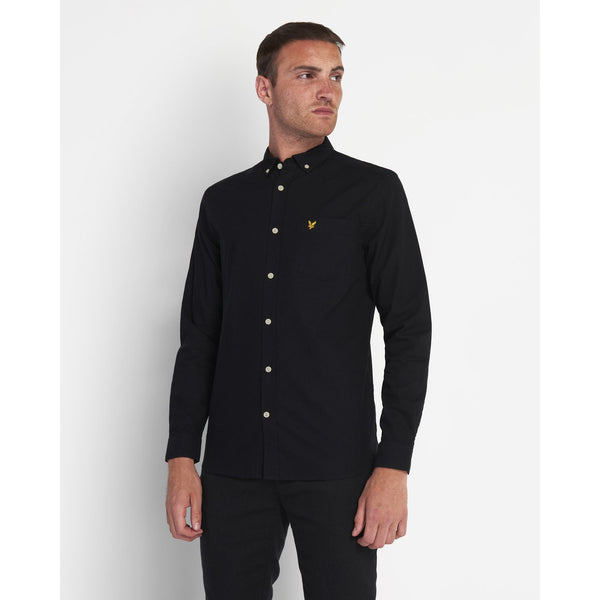 Lyle & Scott - Skjorta - Regular Fit Light Weight Oxford Shirt (Z865 Black) - Thernlunds