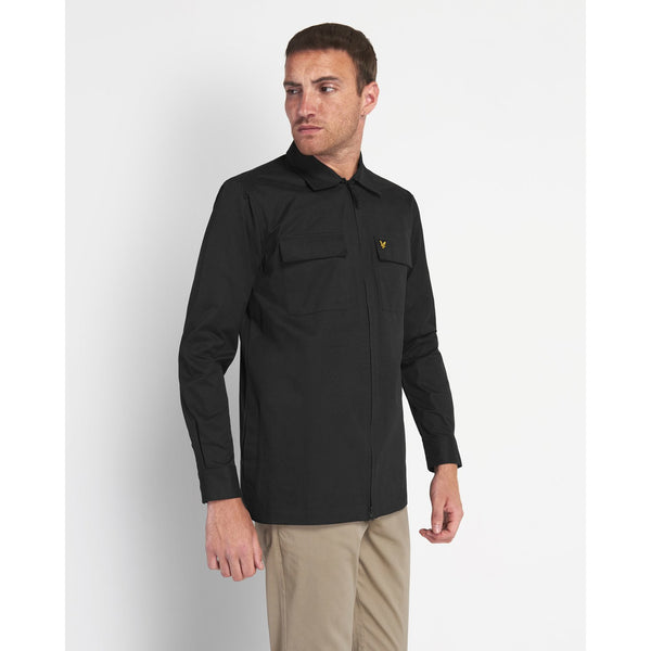 Lyle & Scott - Skjorta - Cotton Overshirt (Z865 Black) - Thernlunds