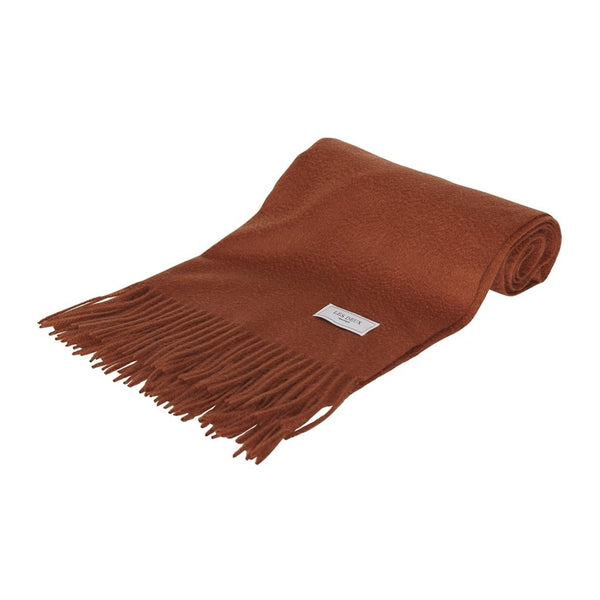 Les Deux - Halsduk/Scarf - Les Deux Solid Wool Scarf (Rusty Brown) - Thernlunds