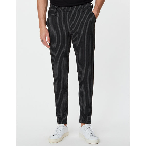 Les Deux - Byxa - Como Pinstripe Suit Pants (Antrazit/Light Grey Melange) - Thernlunds