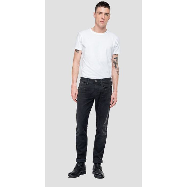 Replay - Jeans - Slim Fit Hyperflex Anbass Jeans Clouds (098 Black) - Thernlunds
