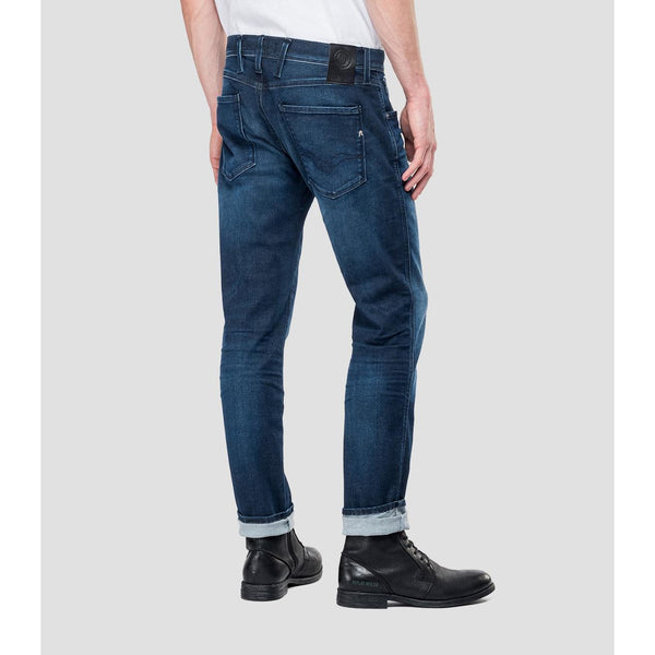 Replay - Jeans - M914 Anbass Hyperflex Jeans (007 Dark Blue) - Thernlunds