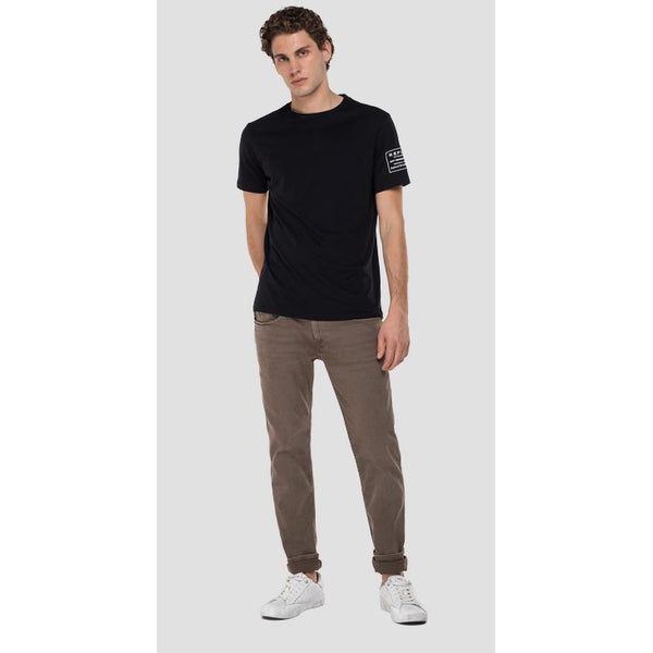 Replay - Byxa - Slim Fit Hyperflex Anbass Jeans (761 Deep Mud) - Thernlunds
