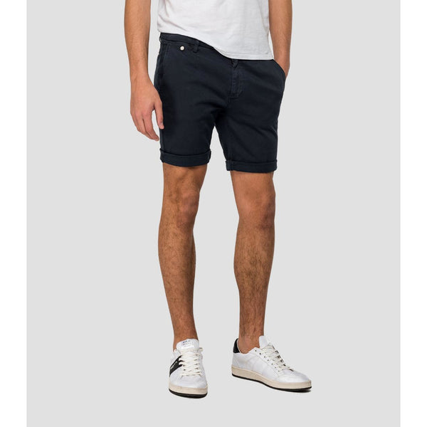Replay - Shorts - Hyperflex Chino Shorts (010 Blue) - Thernlunds