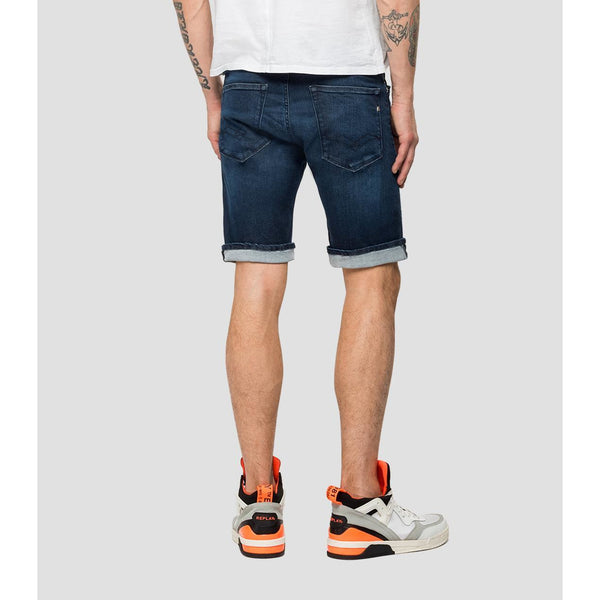 Replay - Shorts - RBJ901 Bermuda Hyperflex Shorts (007 Dark Blue) - Thernlunds