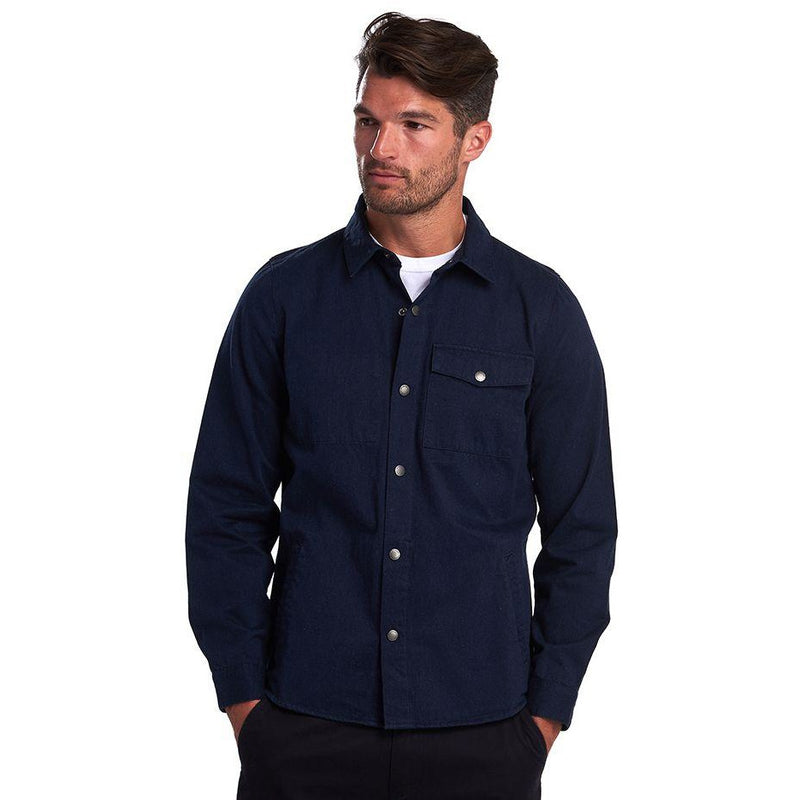 Barbour - Skjorta - Mortan Overshirt (BL53 Inky Blue) - Thernlunds
