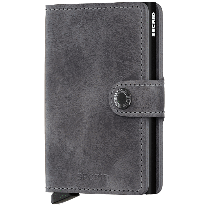 Secrid - Plånbok - Vintage Miniwallet (Grey/Black) - Thernlunds