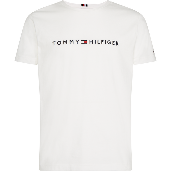 Tommy Hilfiger Menswear - T-shirt - Core Tommy Logo Tee (118 Snow White) - Thernlunds