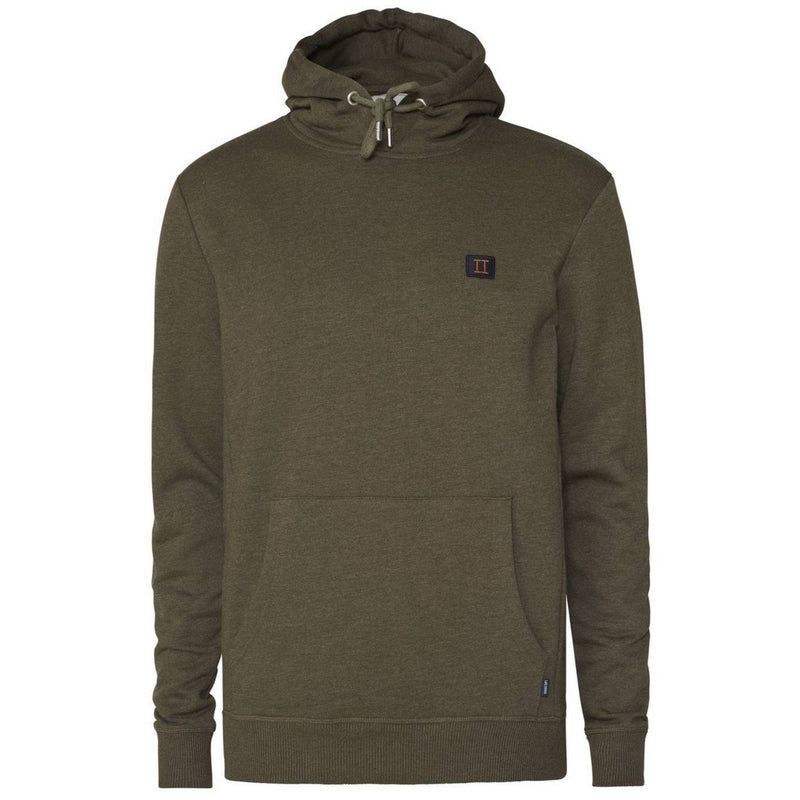 Les Deux - Tröja - Piece Hoodie (Dark Green Melange/Dark Navy/Rusty Brown) - Thernlunds