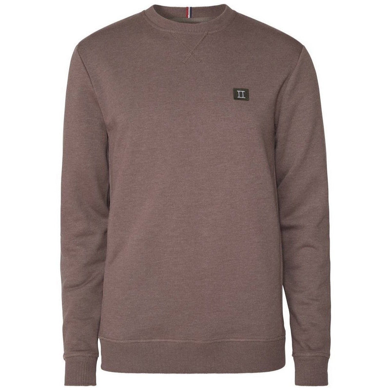 Les Deux - Tröja - Piece Sweatshirt (Brown Melange/Dark Green/Light Grey) - Thernlunds